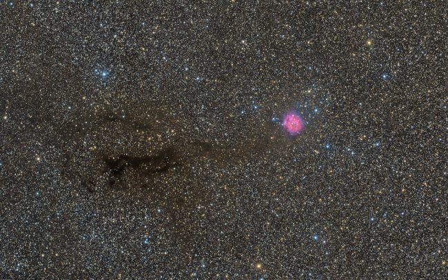 Takahashi FSQ106 QHY367c mesu200 Cocoon nebula IC5146. 6.5 hrs. exposuretime