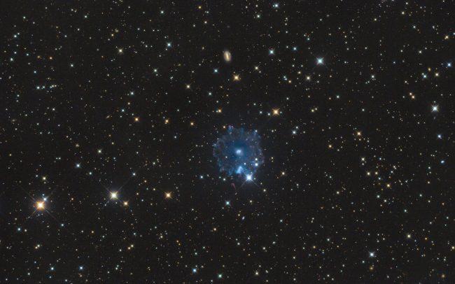 Catseye nebula NGC6543, ODK10, QHY168c, Mesu 200. 9.3 hrs exposuretime