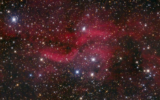 DWB111 propellor nebula, ODK10, QHY168c, Mesu200. 420 minutes exposure