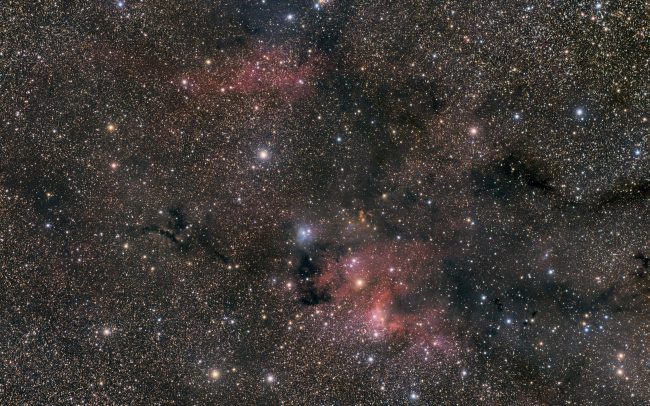 Cave Nebula, SH2-155, 500 minutes with a Takahashi FSQ106 and a QHY367c. Mount is a Mesu200