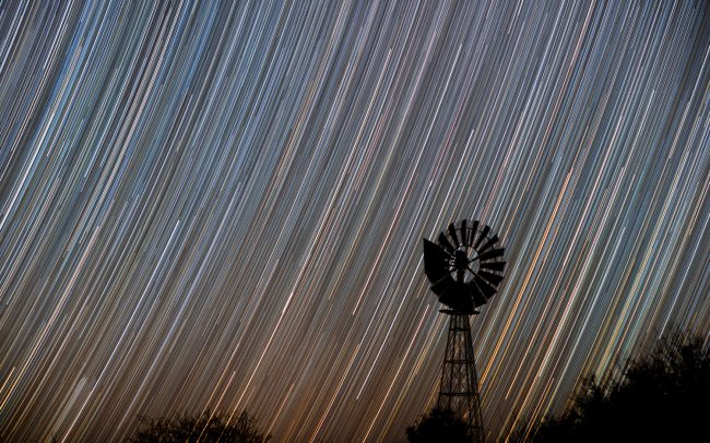 Startrail taken at Tivoli Astrofarm, Namibia, 2018.