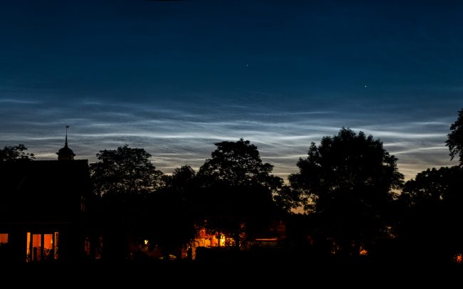 noctilucent clouds over our house twisk noord holland