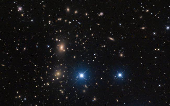 coma cluster, 660 min. total exposure. 2 pane mosaic ODK10, QHY168c, Mesu 200
