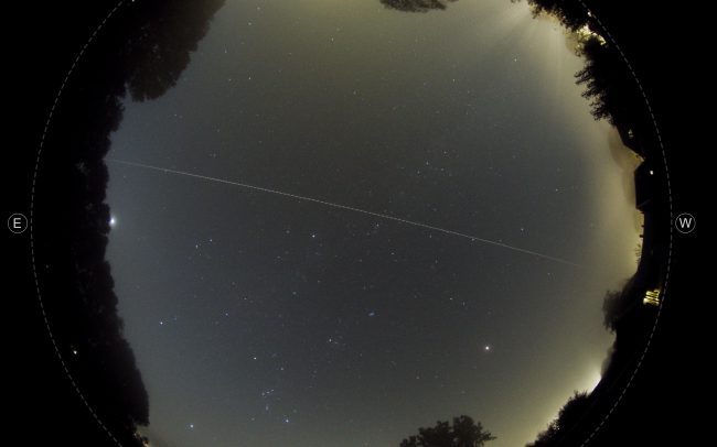 The earthgrazing meteoroid of september 22 2020. A jupiter family meteoroid entered the atmosphere and bounced back into space. Lowest altitude was 91 km.