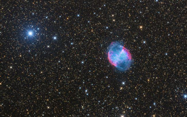 Dumbbell nebula, ODK10, QHY168c, Mesu200 5 hrs exposure time