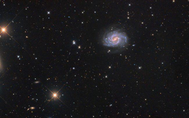 NGC4535 lost galaxy of copeland.NGC4526 hairy eyebrow. NGC4519. ODK10, QHY168c, Mesu200. 550 minutes exposure. 2 pane mosaic